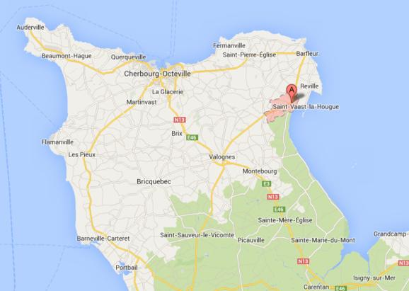Quettehou est une charmante station balnéaire située près de Saint-Vaast-la-Hougue sur la côte est du Cotentin