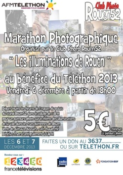 Mini marathon au profit du Téléthon avec  le club photo Rouen52
