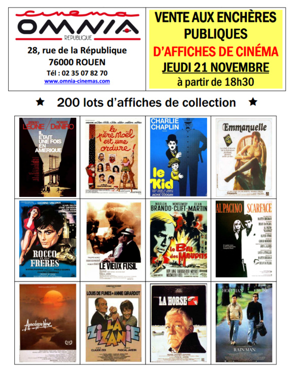 L'affiche de la vente ...d'affiches de collection