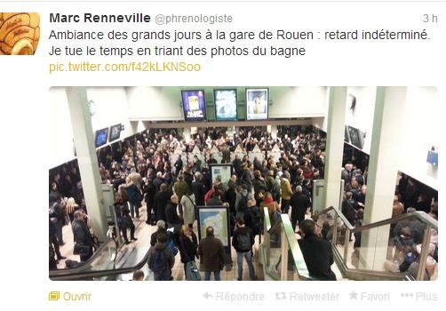 Comme à chaque incident à la SNCF, les usagers-internautes ne manquent pas de le signaler sur les réseaux sociaux