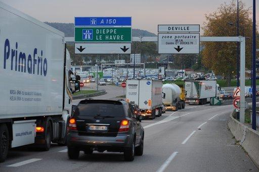 Au moindre accident sur l'A150, la ville de Rouen en subit les conséquences (Photo DR)