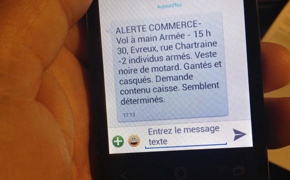 Ces messages SMS envoyés par la police ou la gendarmerie sont surtout destinés à mettre en garde les commerçants (Photo d'illustration @Infonormandie)