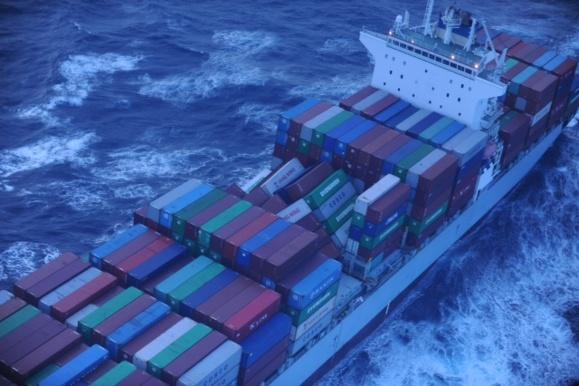 Le porte-conteneurs a perdu une partie de sa cargaison en mer (Photo Douanes)