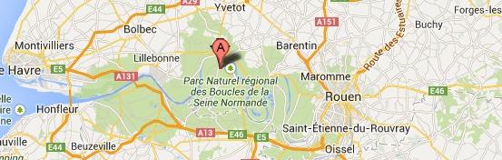 Le chauffeur d'un camion se tue en tombant d'une échelle près de Caudebec-en-Caux