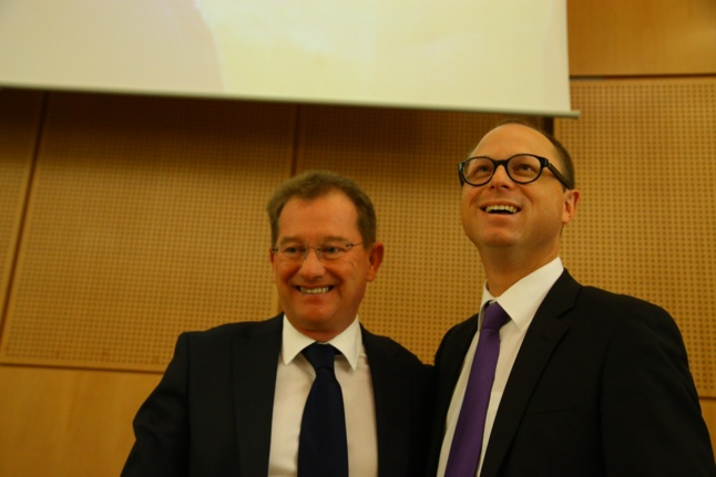 Nicolas Rouly (à droite) succède à Didier Marie