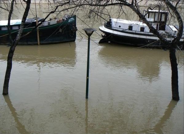 Risques de débordement de la Seine en Seine-Maritime