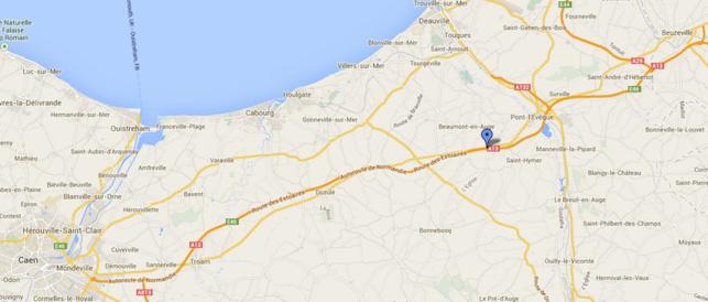 La circulation des poids lourds est interdite entre Caen et Pont-l'Evêque, en raison de l'affaissement de la chaussée sur l'autoroute A13 à hauteur de la commune de Clarbec (Calvados)