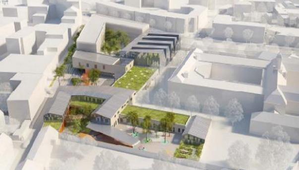 Bientôt une école, un gymnase et un centre de loisirs vont sortir de terre dans le secteur des Murs-Saint-Yon (dessin d'artiste)
