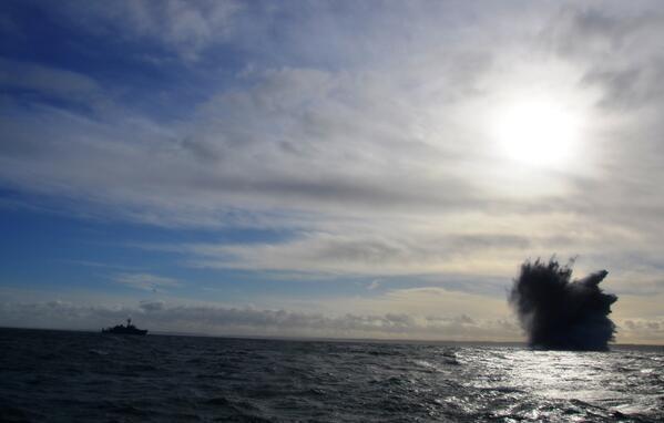 Les mines ont été détruites au large du littoral normand (Photo Marine nationale)