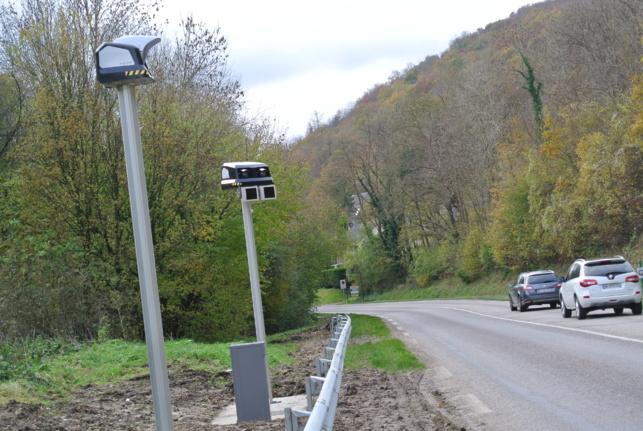 Le premier radar tronçon vient donc dêtre mùis en service dans l'Eure, sur la D181, une route particulièrement dangereuse (Photo @InfoNormandie)