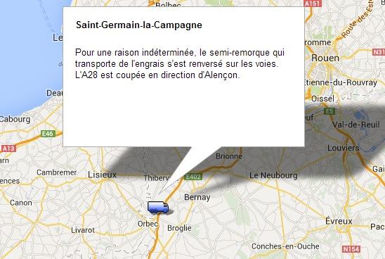 Accident de poids lourd sur l'A28 dans l'Eure : l'autoroute coupée vers Alençon