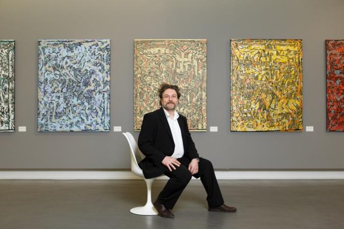Phillipe Guesdon commentera personnellement ses oeuvres aux visiteurs dimanche (Photo David Morganti)