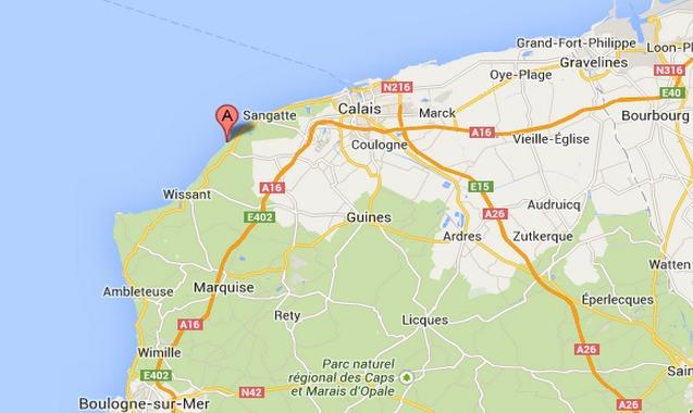 Sauvetage d'une femme ayant chuté de la falaise au Cap Blanc-Nez (Pas-de-Calais)
