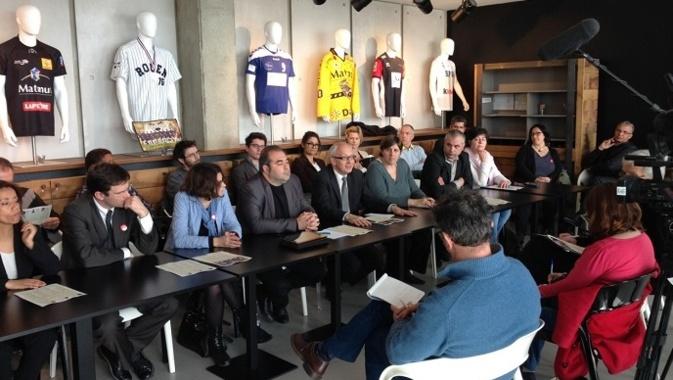Yvon Robert et Jean-Michel Bérégovoy ont annoncé leur décision de fusionner les deux listes pour le second tour ce lundi après-midi au cours d'une conférence de presse (Photo DR)