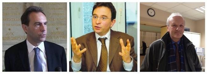 Les trrois têtes de listes : Guy Lefrand, Michel Champredon et Emmanuel Camoin (de gauche à droite)