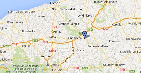 La collision est survenue dans une ligne droite à hauteur de Bradiancourt - Sainte-Geneviève