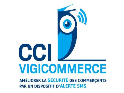 Dans l'Eure, un logo est apposé sur la vitrine du magasin pour signaler sa participation à Vigicommerce