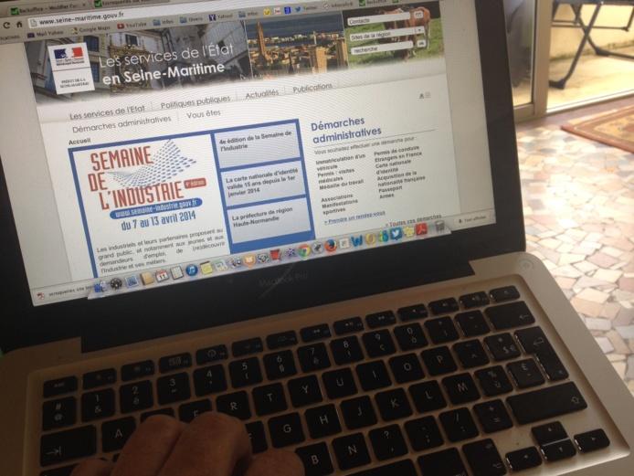 Le préfet met en garde les usagers qui pourraient être victimes d'un faux site se revendiquant de la préfecture de Seine-Maritime (photo d'illustration du vrai site de la préfecture)