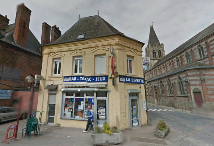 Le bar-tabac La Civette est située dans le centre ville de Tôtes @Google Maps