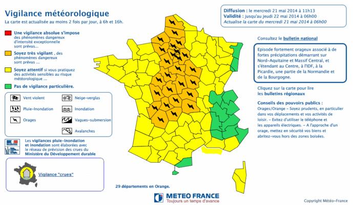 Capture d'écran Météo France. Cliquez sur la carte pour l'agrandir