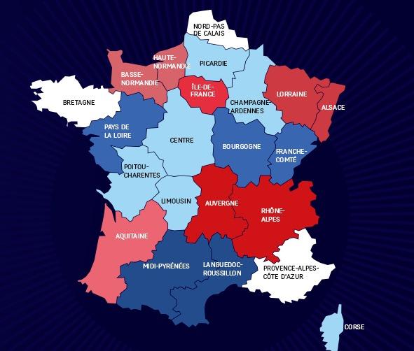 La nouvelle carte des régions selon François Hollande