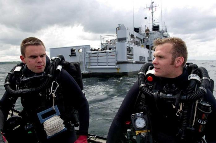 Les plongeurs démineurs de la Manche sont prêts à intervenir à tout moment (Photo Marine nationale)