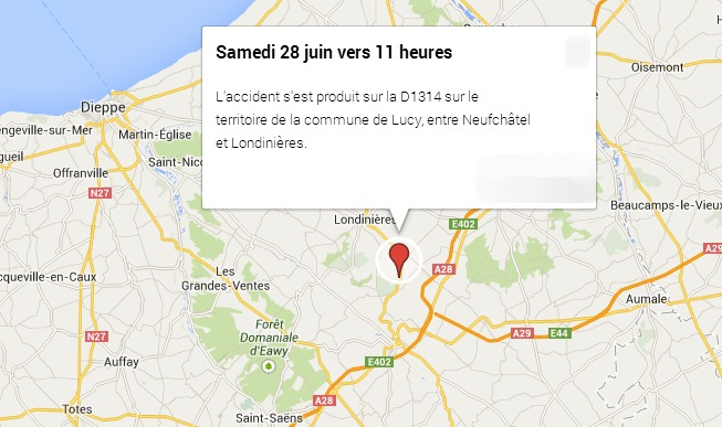 Une femme de 45 ans tuée sur la route entre Neufchâtel et Londinières