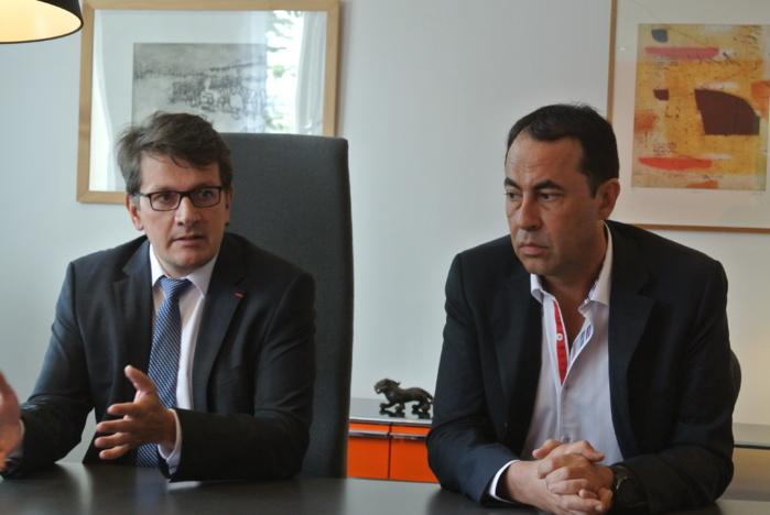 """Me Christophe Callat (à droite) se défend d'avoir touché des enveloppes de la part de la comptable de son étude notariale. """"Aucune charge n'a été retenue contre mon client"""", indique pour sa part Me Frédéric Caulier, l'avocat de l'officier ministériel (@infonormandie)"""