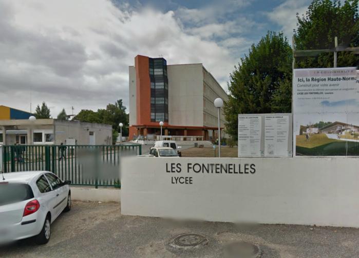 Le lycée Les Fontenelles à Louviers était un des principaux centres d'examen de Haute-Normandie (@Google Maps)