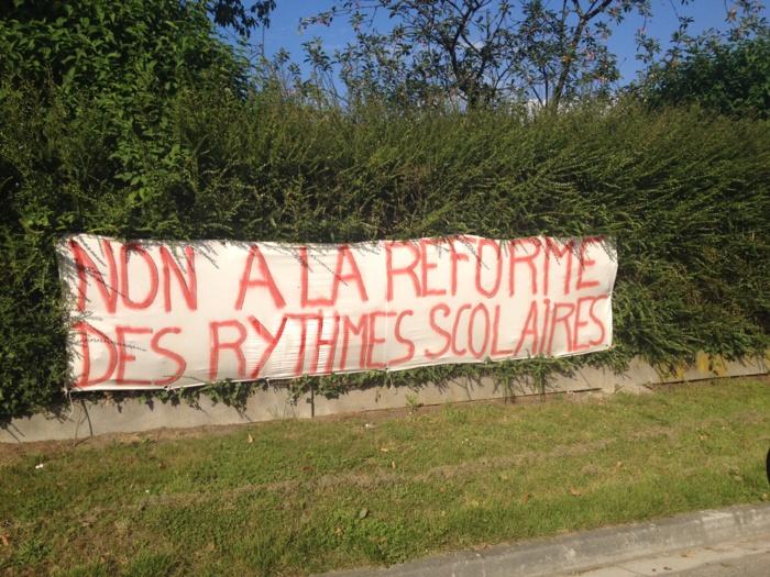 Dans plusieurs communes de l'Eure, la réforme des rythmes scolaires est contestée (Photo infoNormandie)
