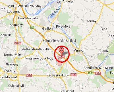 Un corps retrouvé dans une voiture calcinée entre Pacy-sur-Eure et Vernon