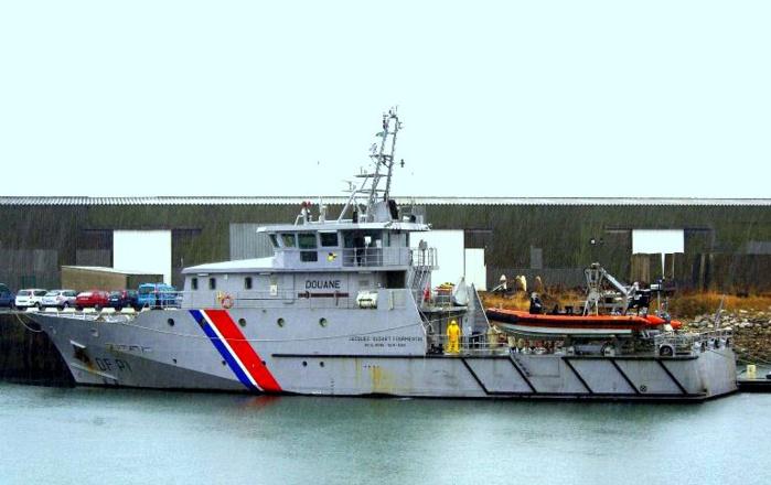 Le patrouilleur garde-côtes Jacques Oudart Fourmentin, basé au port de Boulogne-sur-Mer, a été engagé dans les recherches de cette nuit (Photo DR)