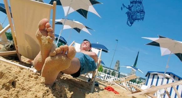 En une semaine, 50 000 personnes ont déjà foulé le sable de Rouen sur Mer !