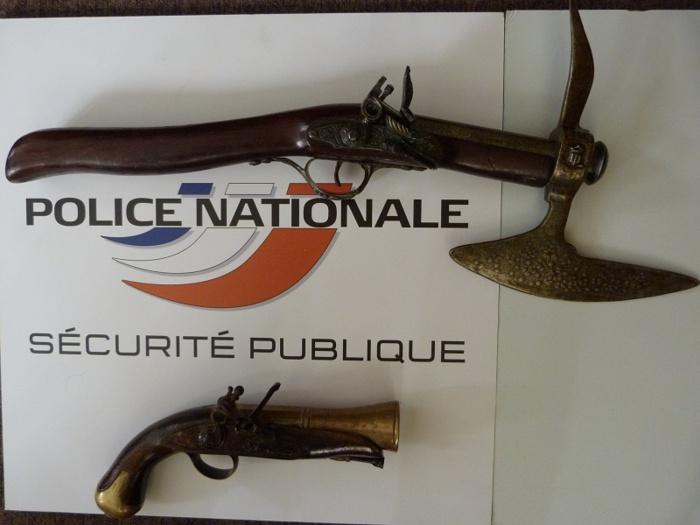 Les deux armes ont été saisies par les enquêteurs (Photo DDSP)