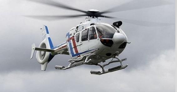 L'hélicoptère des douanes a participé aux recherches