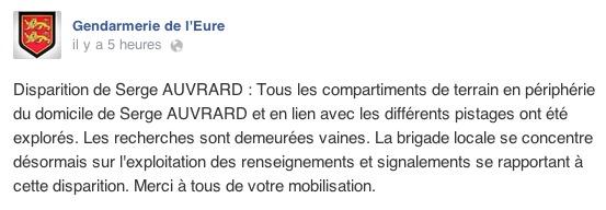 Le dernier message publié par la gendarmerie sur sa page Facebook remontait à la fin de matinée, ce samedi, soit moins de deux heures avant la découverte du disparu dans la forêt de la Londe-Rouvray