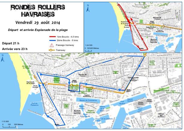 Ronde roller du Havre le 29 août : sur un air de disco