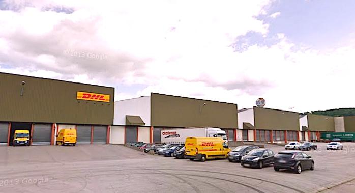 La société DHL, spécialisée dans la messagerie express, est basée à Saint-Etienne-du-Rouvray