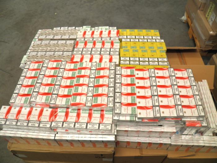 Les cigarettes saisies étaient dépourvues de vignette fiscale (Photo Douane)