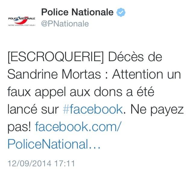 Décès de la policière d'Evreux : un faux appel aux dons sur Facebook, c'est une escroquerie !