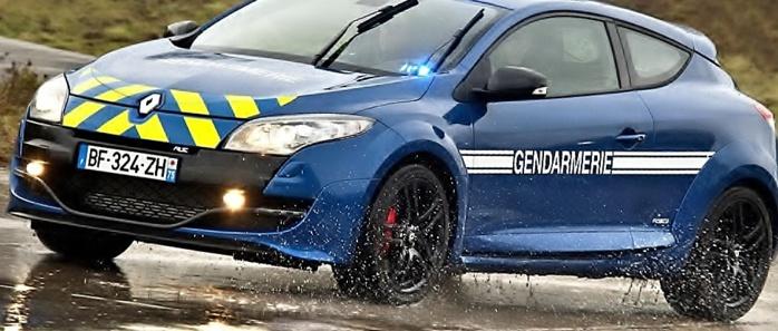 Une Renault Mégane RS de la brigade rapide d'intervention