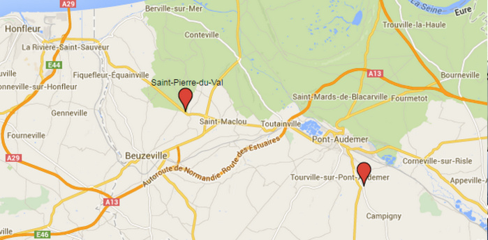Deux drames de la route dans l'Eure : un motard tué à Saint-Pierre-du-Val, deux bébés grièvement blessés près de Pont-Audemer