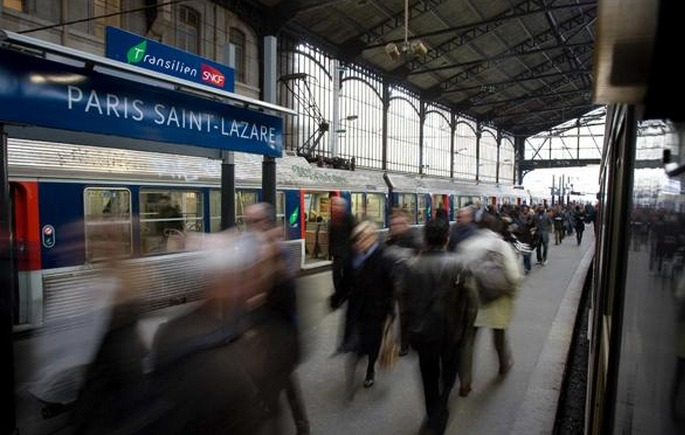 La SNCF prévoit un train sur deux sur  le réseau de Paris-Saint-Lazare