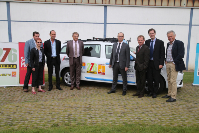"""Haute-Normandie : """"276"""" offre une voiture au club cycliste de La Feuillie"""