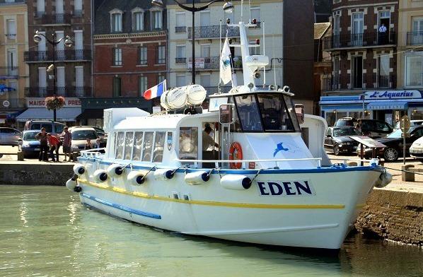 L'Eden a une capacité de 99 passagers. Il propose des promenades en mer au large de Mers-les-Baiins et Le Tréport (Photo DR)