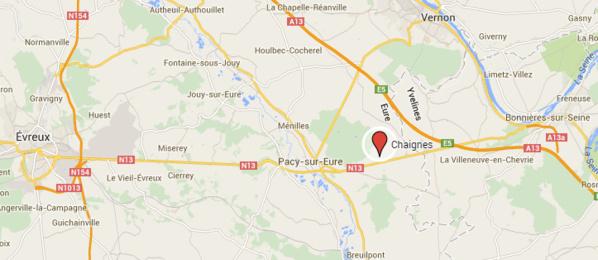 La RN13 coupée ce matin à Chaignes (Eure) à la suite d'un accident