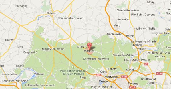 Accident à Marines (Val d'Oise) : la D28 coupée dans les deux sens