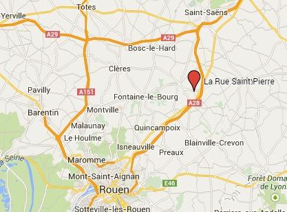 Un mort et deux blessés dans une collision à La Rue-Saint-Pierre (Seine-Maritime) : la D 928 est coupée