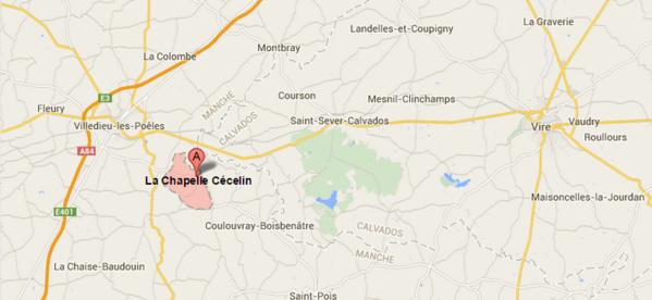 Quatre morts sur une route départementale de La Manche, près de Villedieu-les-Poêles
