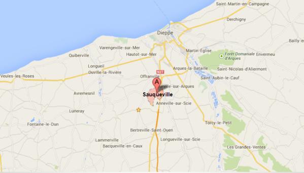 La collision s'est produite dans le sens Dieppe vers Rouen